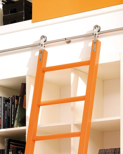 Glide Rolling Library Ladder hardware